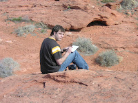 Tyson Kartchner from Boulder Colorado sketching near St. George, Utah