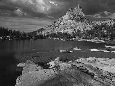 Ansel Adams, Cathedral Peak, 1938 on display at the Crocker Art Museum in Sacramento