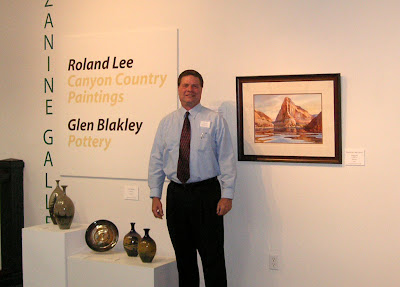 Roland Lee at the St. George Art Museum Exhibit opening