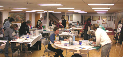Roland Lee teaches the spring mini-workshop for the Utah Watercolor Society