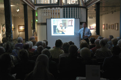 Roland Lee presenting a power point demonstration at the St. George Art Museum