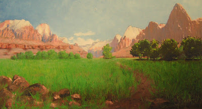 1903 painting by Frederick Dellenbaugh painting of Zion National Park