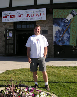 Utah artist Roland Lee at the Wasatch Plein Air Paradise competition in Midway Utah