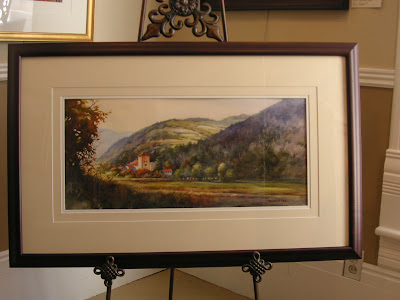 Roland Lee watercolor painting of Swiss Castle Schloss Rietberg