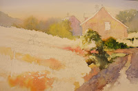 Watercolor step by step demonstration - European Country Garden by Roland Lee