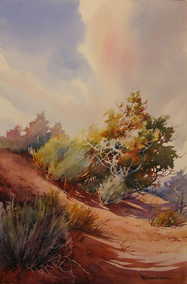 Watercolor painting demonstration at St. George Art Museum