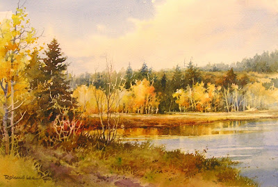 Watercolor painting of Duck Creek on Cedar Mountain, Utah