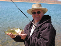 Fishing expert Robert Eves used a Senko texpose rig to catch this nice largemouth bass at Sand Hollow