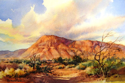 How to paint skies in watercolor by Roland Lee