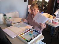 Joanne Asay from magana Utah in roland Lee watercolor workshop