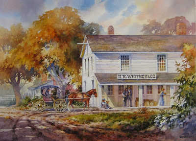 Roland Lee Painting of the Newel K. Whitney store in Kirtland Ohio