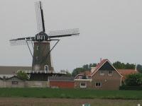 St. Maartensdijk windmill molen in Zeeland Holland