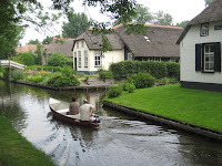 Canals in Giethoorn Holland