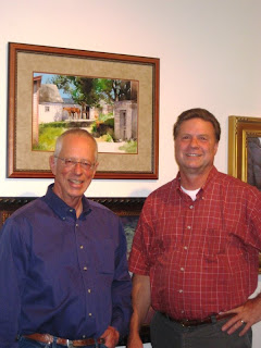 Roland Lee and Don Weller at the Paint the Parks Top 100 Travelling Exhibit