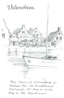 Picture of a sketchbook drawing rom Volendam Netherlands