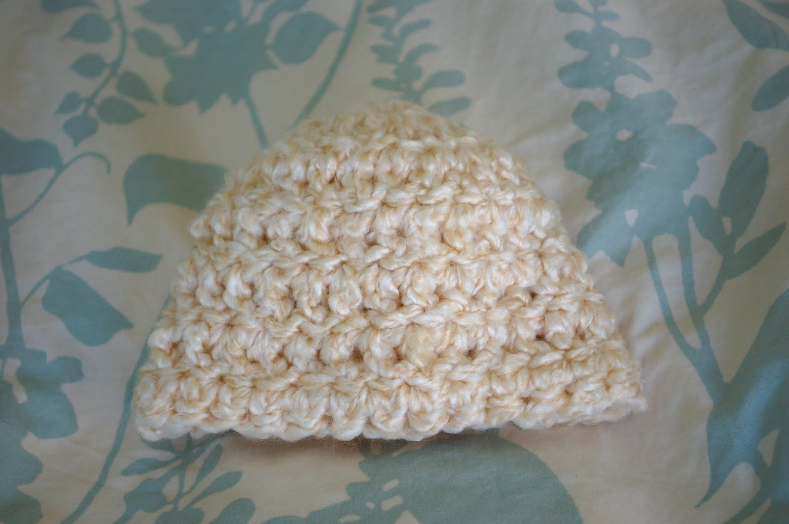 Alli Crafts  Free Pattern  Chunky Yarn Newborn Hat 4140a995d3a