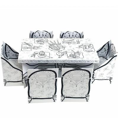 Birthday Party Table Set Mesa De Cartón Para Colorear Trecool