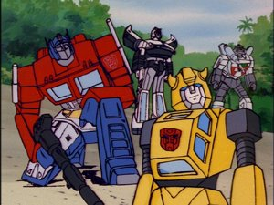 bumblebee and optimus prime cartoon