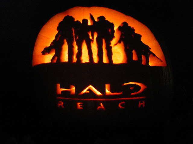 halo reach haloween pumpkin