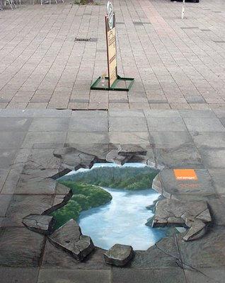 Arte de la perspectiva/Ilusiones ópticas - Página 2 Street%2Bart_orange_1