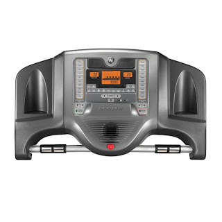 Track calories burned on the Horizon T82 Treadmill console.