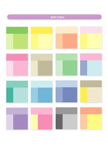at design kombinasi warna soft color
