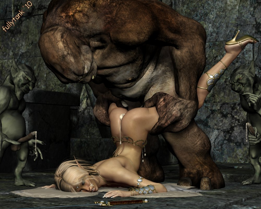 3d animated monster gangbang double feature 2