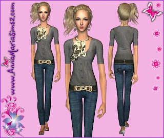 świat The Sims 2 Lynn Ubrania Download Fryzury Download