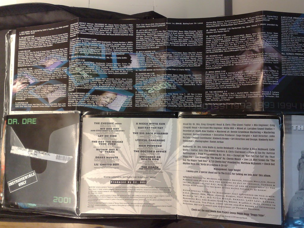 Rap Research Archive: Dr  Dre Chronic & Chronic 2001 booklet