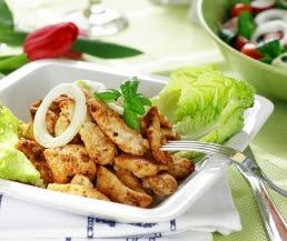 شرائح الدجاج مع الأعشاب العطرية