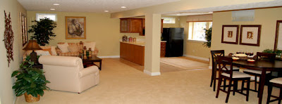 picture of finished basement flooring