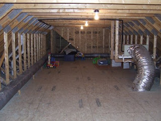 picture of attic space created with attic trusses
