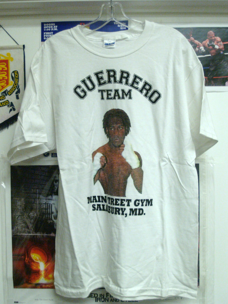 5604126ced7 Today I went up to the Main Street Gym and bought a bunch of Fernando  Guerrero Tee Shirts. Let's show everyone just how many people have  registered to ...