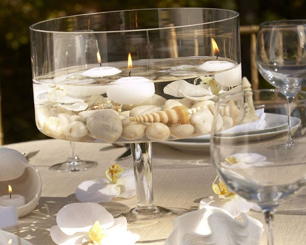 Caribbean Wedding Favor Ideas: Caribbean American Bride: Tropical Beach Centerpiece