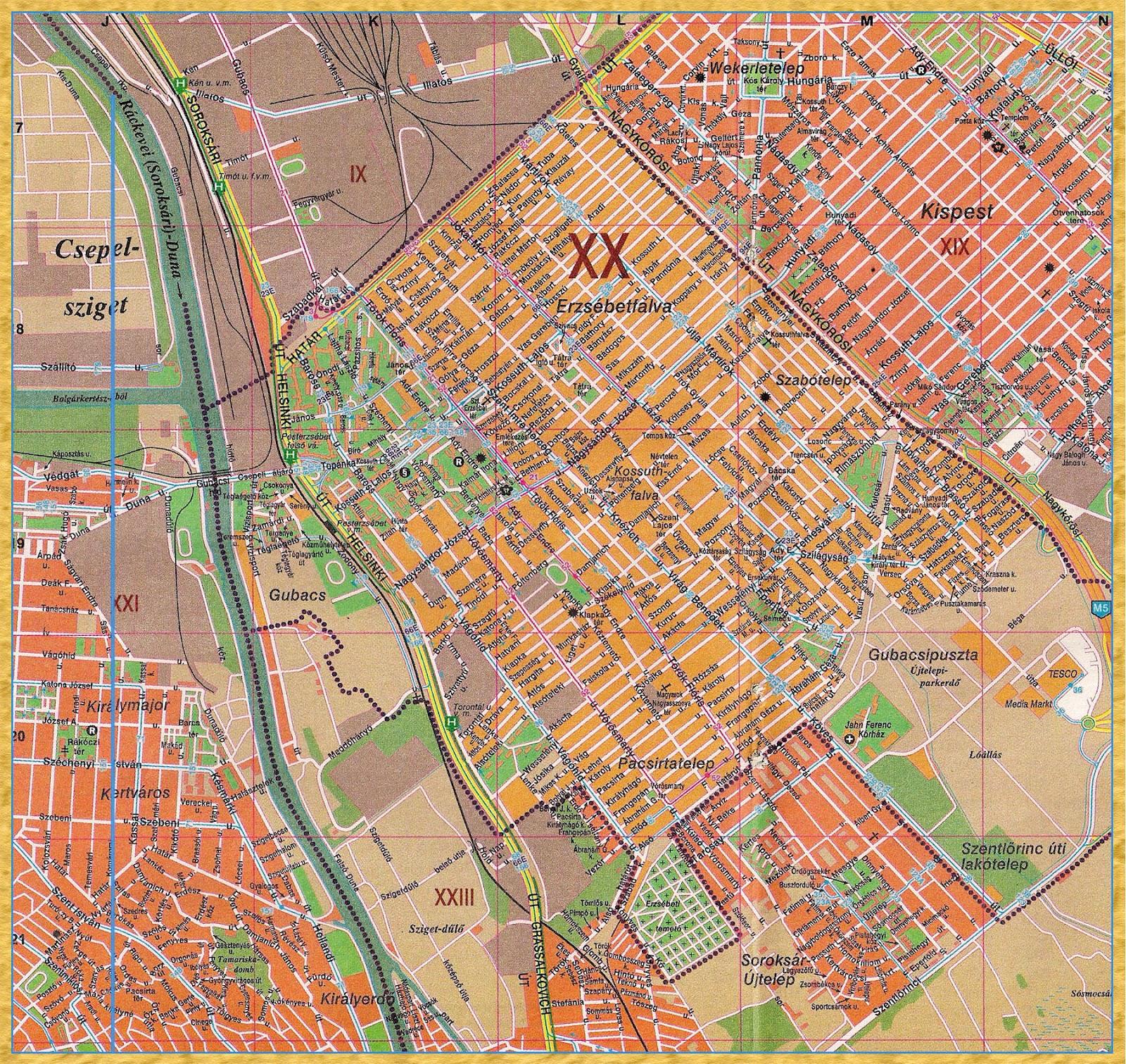 soroksár térkép FalArt Blog: Pesterzsébet térkép 2002. soroksár térkép