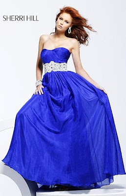 e6be4917ccc Sherri Hill Royal Blue Silk Chiffon Embroidered Waist Prom Dress 3501 · Sherri  Hill Prom Figure Flattering Short Cocktail Prom Dress 2220