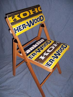 hockey stick folding chair