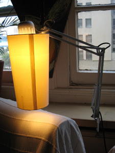 table work lamp with shade
