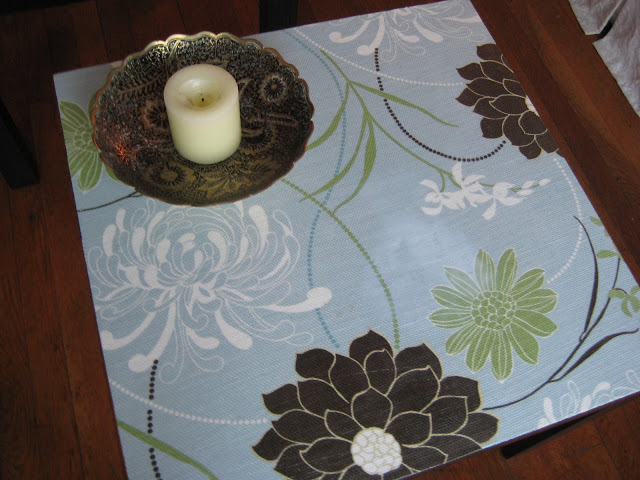 fabric top side table