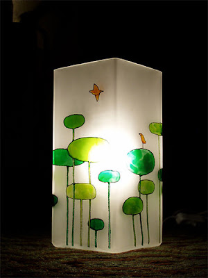 hand painted grono table lamp