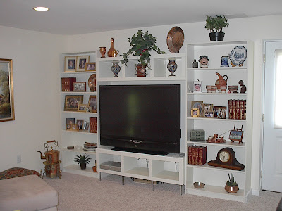entertainment unit for projection tv