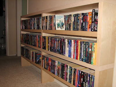 ikea wood book case for paperbacks
