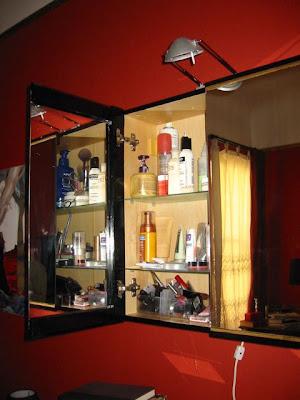 baroque bathroom cabinet open
