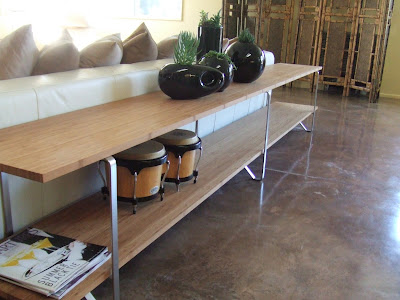 bamboo plywood sofa table