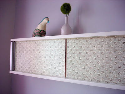 decoupage dvd shelf