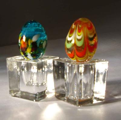 glass egg holder