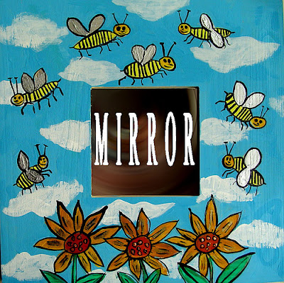 painted bee mirror