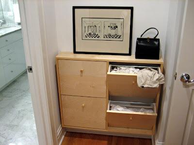 shoe cabinet laundry hamper