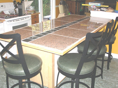 granite top breakfast counter