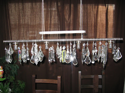 antique crystals pendant lamp